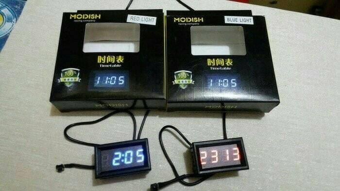 harga Jam digital untuk mobil / jam digital untuk motor /jam led mini Tokopedia.com