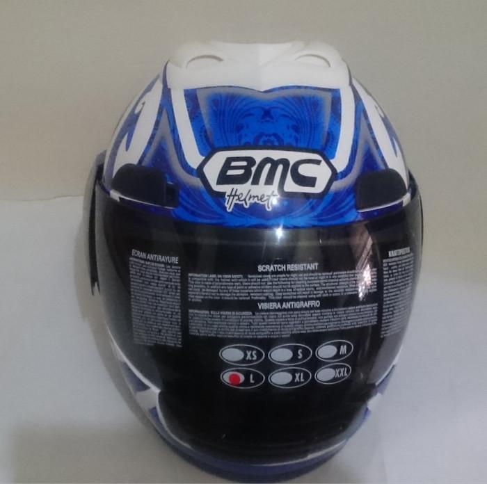 HELM BMC JAZZ # 12 WHITE / BLUE FULL FACE