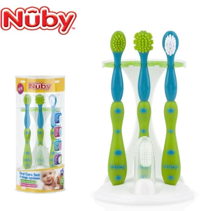 Jual Nuby Oral Care Set 4 Stage Toothbrush   Sikat Gigi Anak ... 405f425520