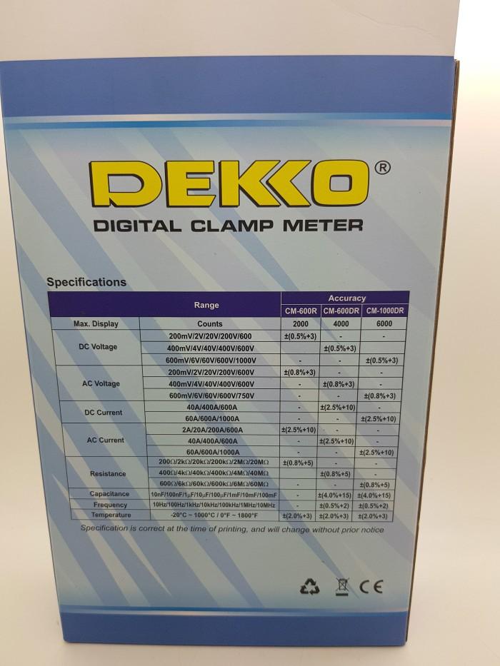 Jual DEKKO 1000A CM-1000DR ( TRUE RMS ) Clamp Meter AC  DC ( Tang ... 966d57806208d