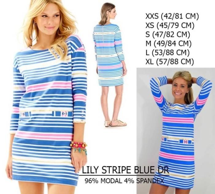 harga Dress branded wanita - lily pulitjer stripe blue dr Tokopedia.com