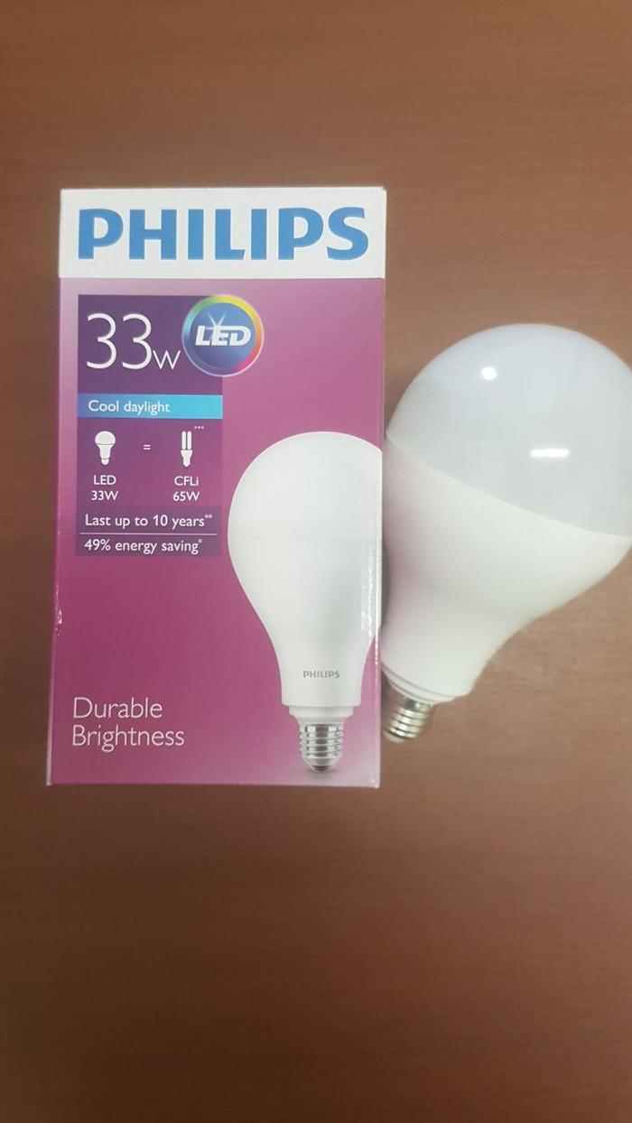 lampu LED bulb philips 33watt 33w 33 watt 33 w putih garansi 3 th