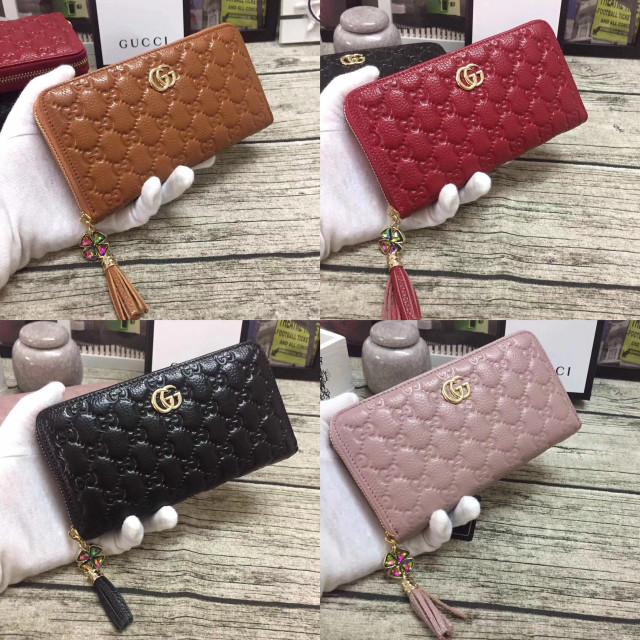 85bd6ddaf7b Jual Minits-D005 Dompet Gucci Zipper Premium Bahan Kulit Asli - Kota ...