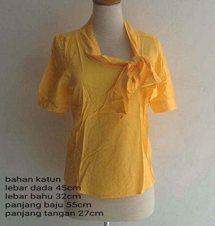 Foto Produk SALE .. BLOUSE WANITA SIMPLE PITA ( READY KUNING HITAM ) CASUAL KANTOR dari KPStore Fashion Online