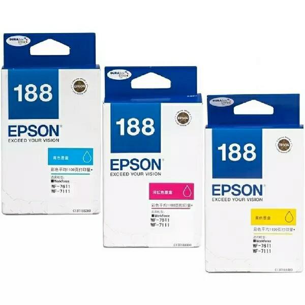 Tinta Epson T188 Color Catridge WF 7111 dan WF-7611