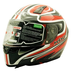 helm cargloss kbc vk euro helm full face - black grey red