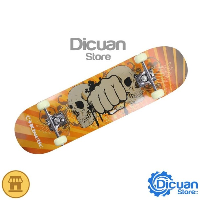 harga Kinetic papan skateboard canadian maple skull 78.7 x 20 cm Tokopedia.com