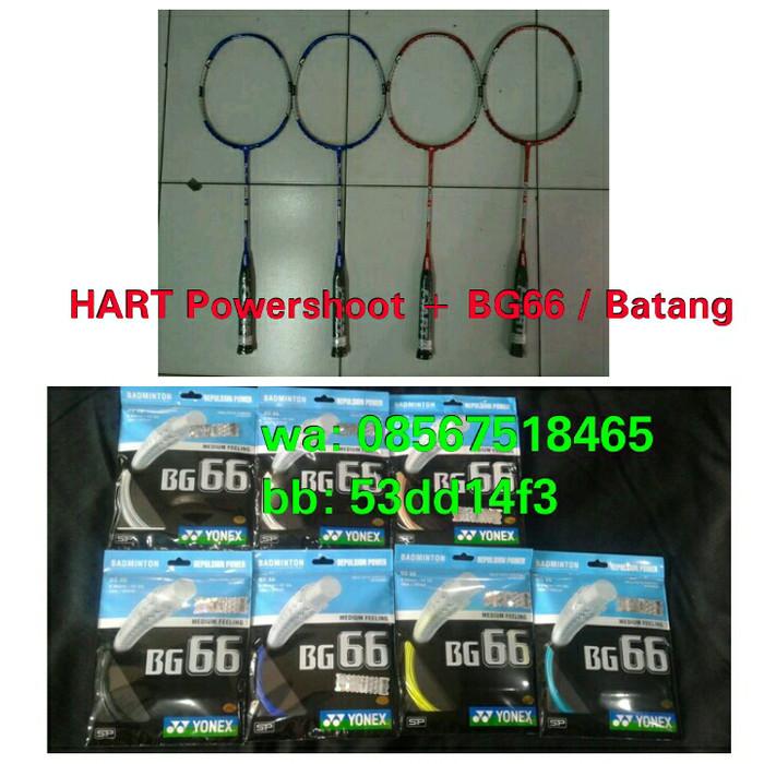 harga Raket badminton hart powershoot pro attack orange & stabilo + bg66 ! Tokopedia.com