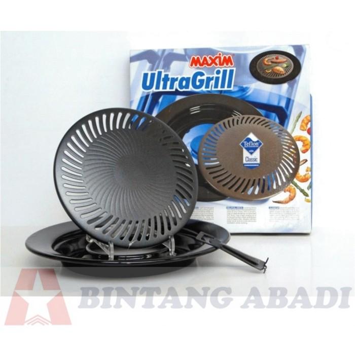 Maxim ultra grill pemanggang 25 cm / alat panggang griller + penjepit
