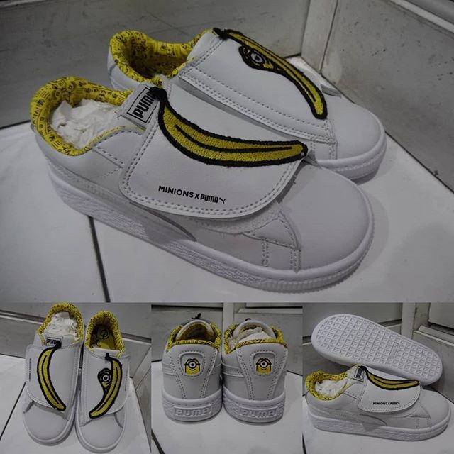 harga Sepatu anak puma x minion kids white yellow putih kuning Tokopedia.com