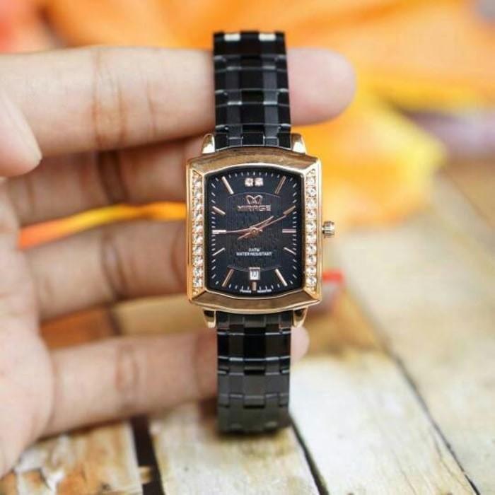 Jual JAM TANGAN Jam tangan mirage original For Ladies GD1554 - Black ... d836aa85b7