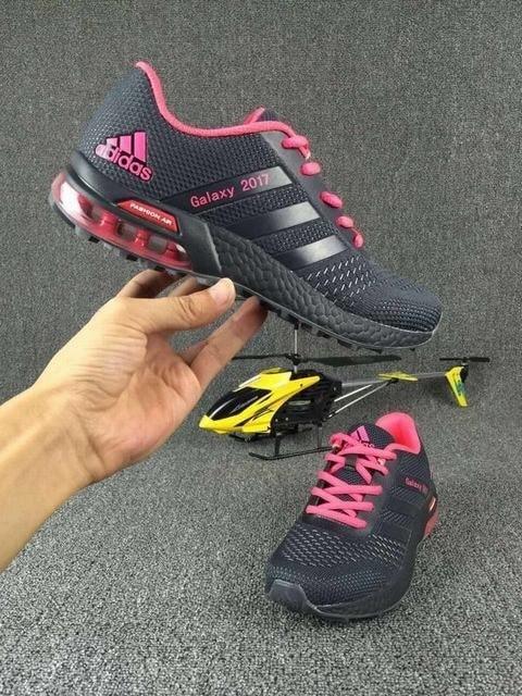 Jual SALE CUCI GUDANG sepatu adidas galaxy 2017 abu pink woman cewek ... 588c654a1