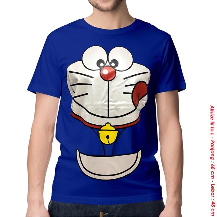harga Kaos Baju Distro Anime - Doraemon Face Tokopedia.com