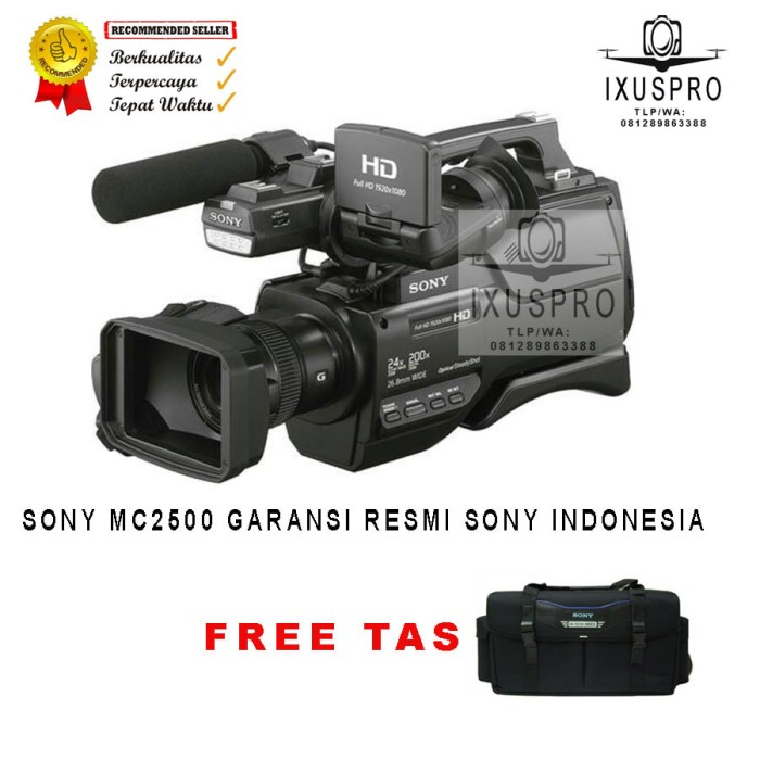 harga Handycam sony hxr-mc2500 avchd - camcorder sony mc2500 garansi resmi Tokopedia.com