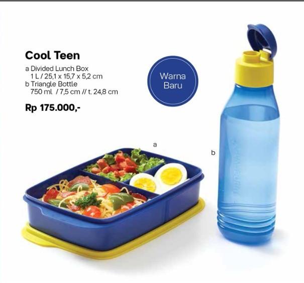 harga Tupperware cool teen new free tas bekal lunch box Tokopedia.com