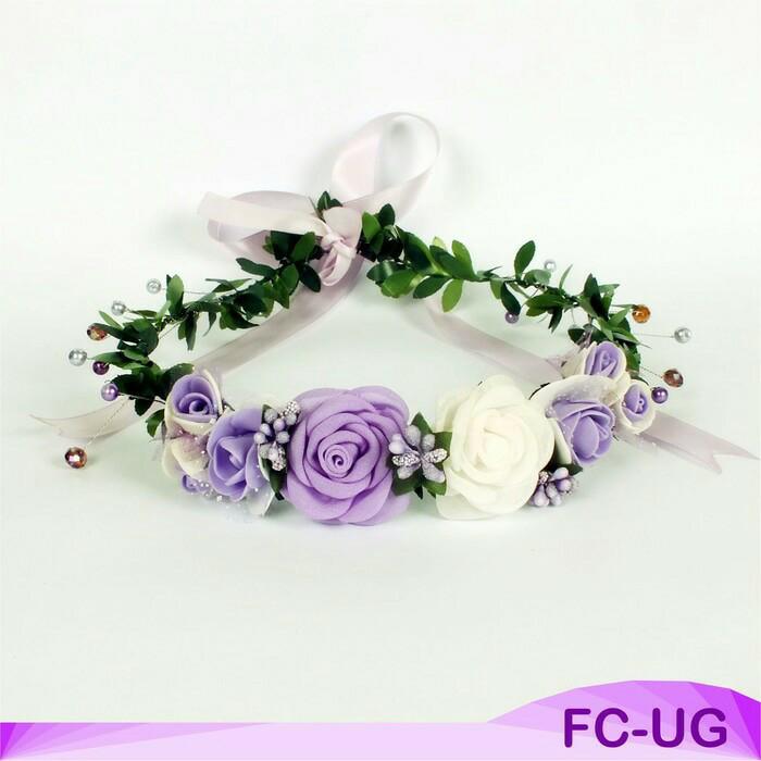Jual Flower Crown Purple Aksesoris Bando Mahkota Bunga Cantik Pesta ... 559919d1df8