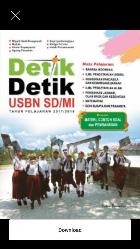 Paket Buku Detik Detik UN SD/MI 2018 Intan Pariwara Detik Ujian USBN
