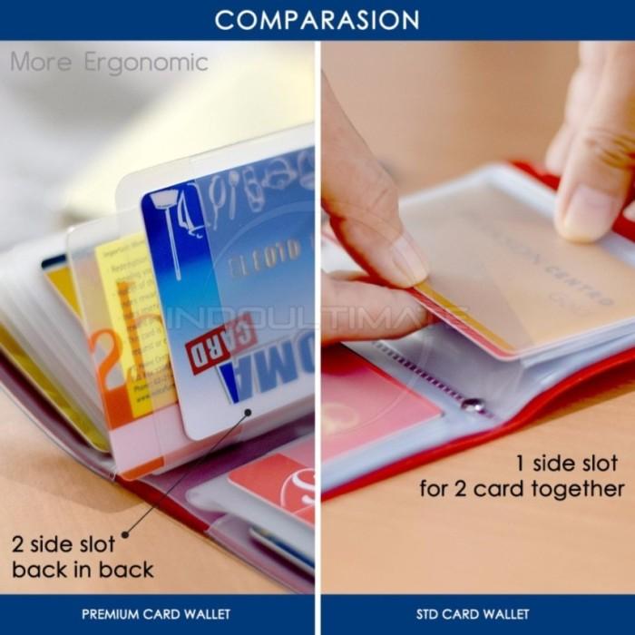 PREMIUM Card Wallet Dompet Kartu ATM credit card PINK