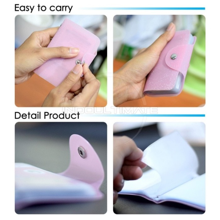 Korean Card Wallet 26 Slot /Dompet Kartu ATM/credit card BLINK pink