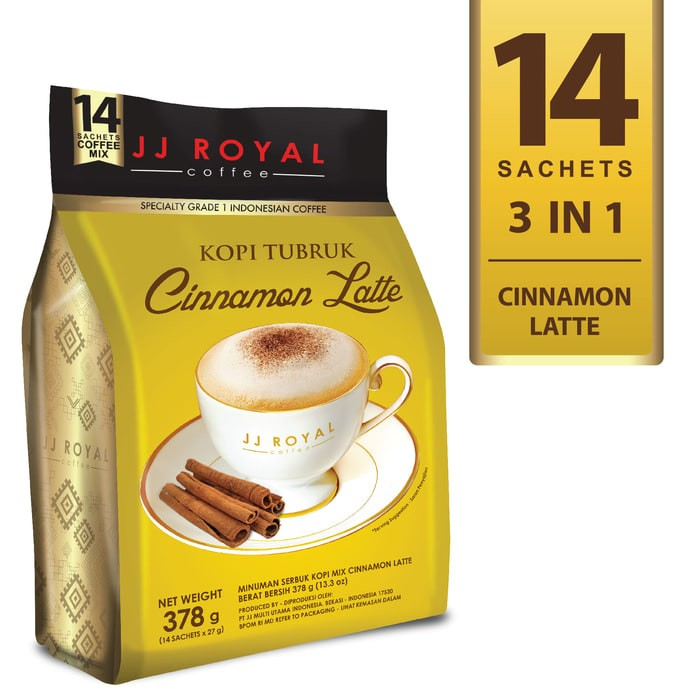 harga Coffee - jj royal kopi tubruk cinnamon latte bulk bag 14 sachets Tokopedia.com