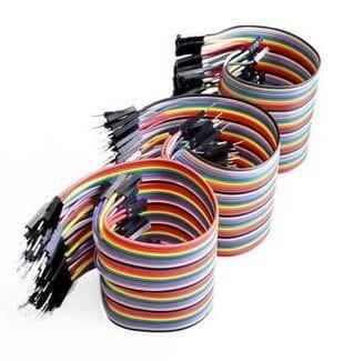 harga Kabel jumper pelangi dupont wire male to female (40p) 40 pcs 20 cm Tokopedia.com