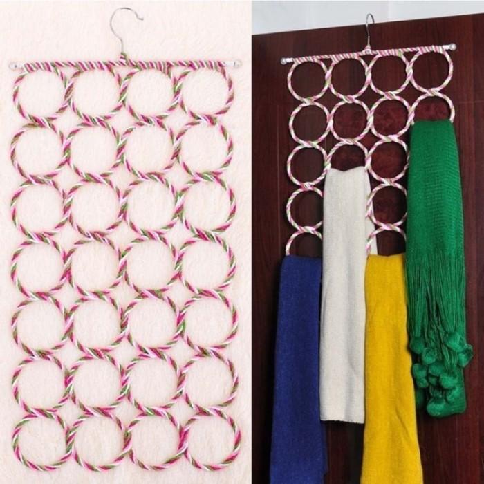 Gantungan Jilbab Ring Serbaguna Hanger Pakaian Dalam Topi Dasi Duster