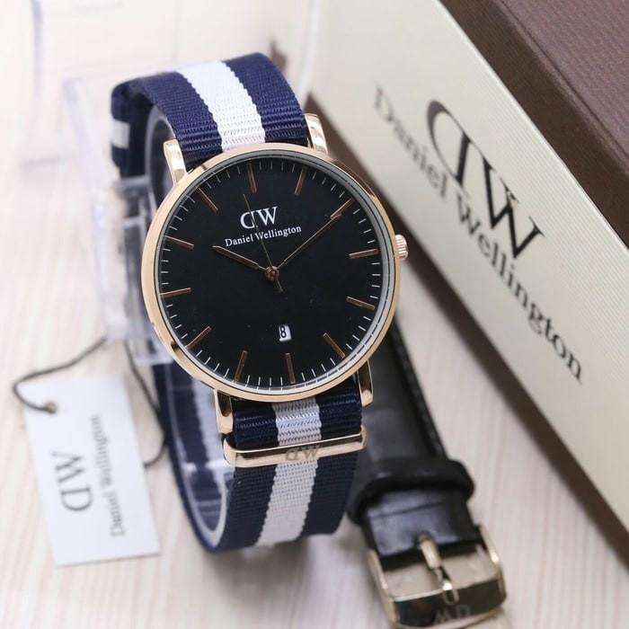 Jam Tangan Pria / Cowok DW Paket Man 04 plat Black