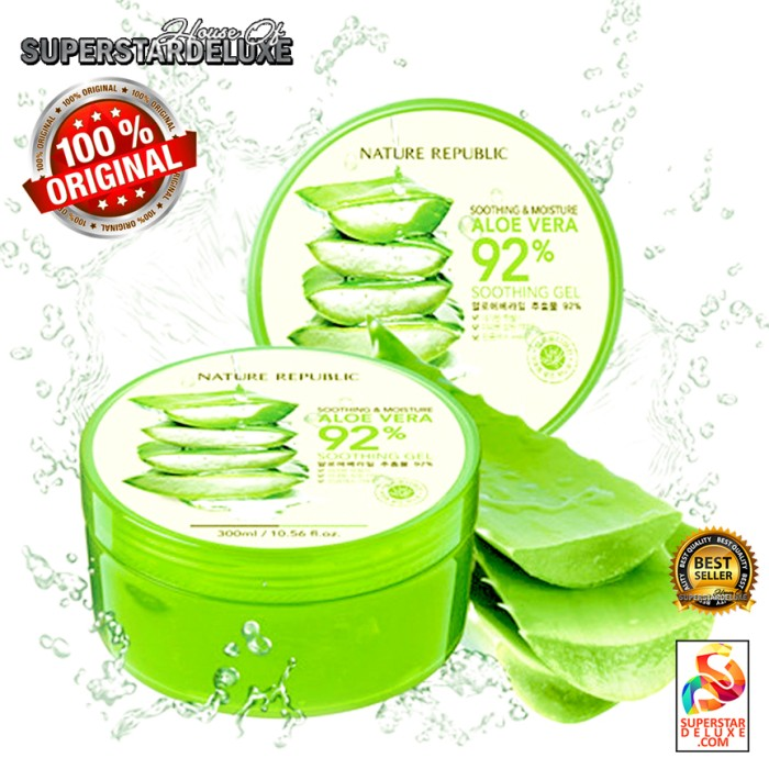 harga Nature republic aloe vera soothing gel - original & bestseller Tokopedia.com