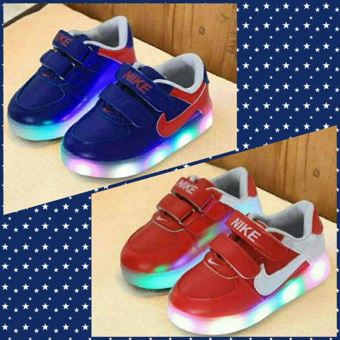... harga Sz 31-35 sepatu anak lampu led import model nike simple  Tokopedia.com af10db08cd