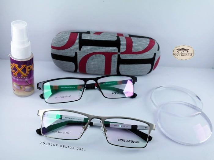 Frame Kacamata Minus Porsche Design 7031 Hitam - Silver + Hitam - Merah -  Silver 312c3493e6