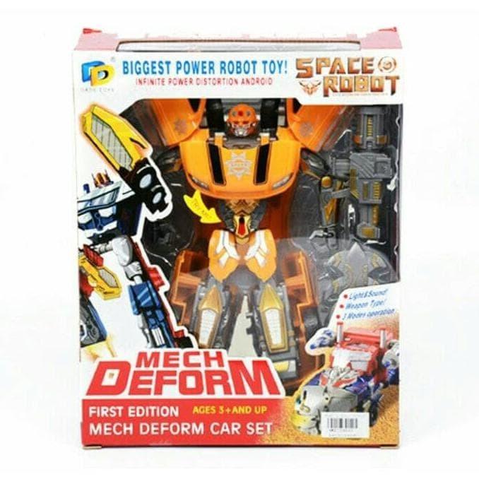 4pcs Blue Dog Car Transformer Toy Deformable Buggy Truck Vehicle Kids 12*7*5cm