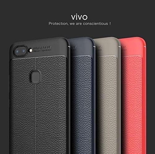 the latest a2b95 edf8c Jual Vivo V7 Plus SOFTCASE AUTO FOCUS LEATHER CASING KULIT Hardcase Vivo -  Kota Bandung - Aliya Case | Tokopedia