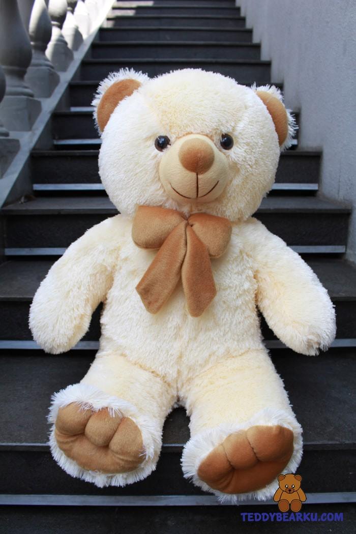 Jual BONEKA IMUT LUCU IMPORT LEMBUT TERLARIS BESAR TEDDY BEAR CREAM ... cb3370e5f8