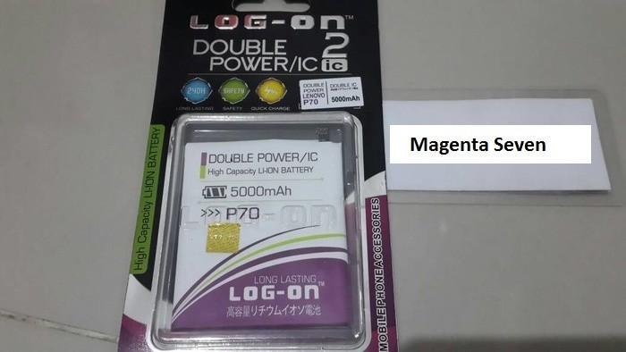 Baterai Log On Lenovo P70 Double Power IC Batre Baterei Battery