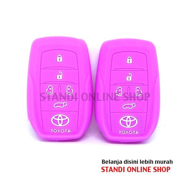 Kondom Kunci Silikon Remote Toyota All New Alphard Vellfire Ungu