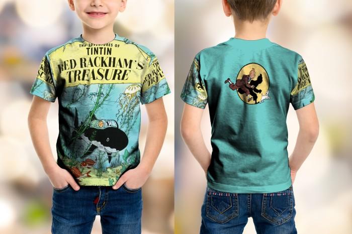harga Kaos baju anak fullprint custom tintin 2 Tokopedia.com