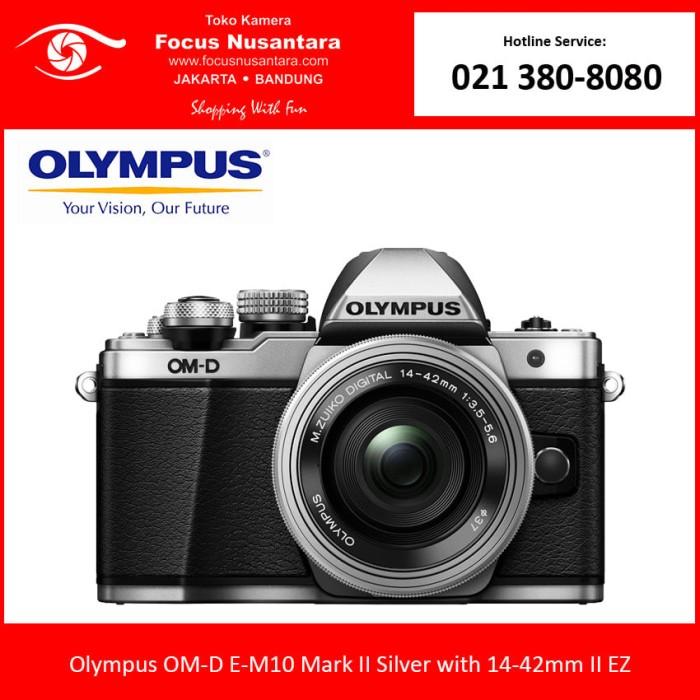 harga Olympus om-d e-m10 mark ii kit 14-42mm ez (silver) Tokopedia.com