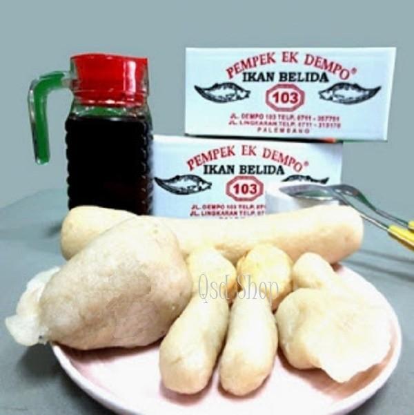Foto Produk Pempek Ikan Belida Ek Dempo Isi 50 Pcs dan Paket B Besar dari qsd olshop