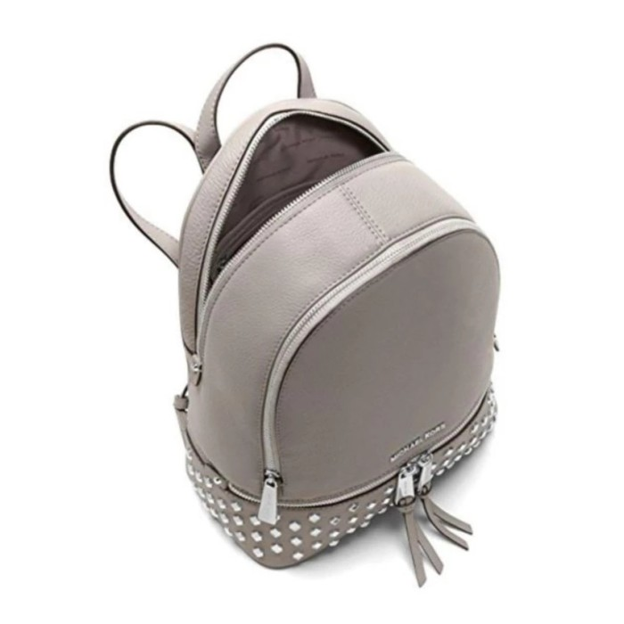 9e6d0411d88f29 Michael Kors Tas Wanita Rhea Medium Studded Leather Backpack - Pearl G