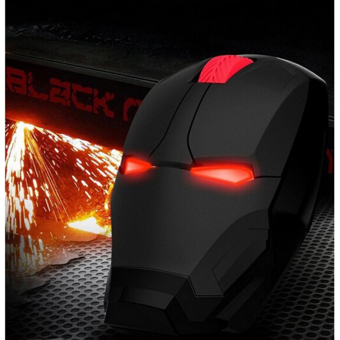 Mouse Wireless Optical Iron Man 2.4Ghz TaffWare black