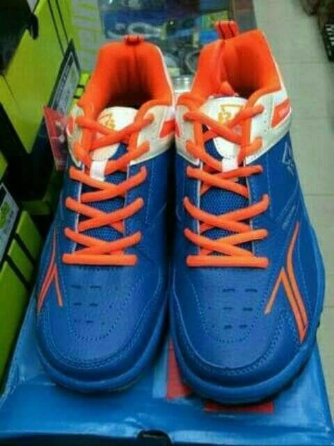 harga Sepatu Badminton Bulutangkis Rs Sirkuit 567 Blue Orange Original  Murah Tokopedia.com edb25a3d42