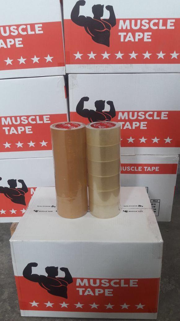 Foto Produk lakban muscle 2inch 90yard tebal 45micron (lebih tebal) dari hsienmei