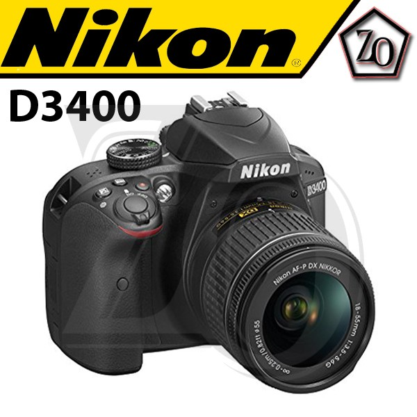 harga Nikon d3400 kit af-p dx 18-55mm f/3.5-5.6g vr Tokopedia.com