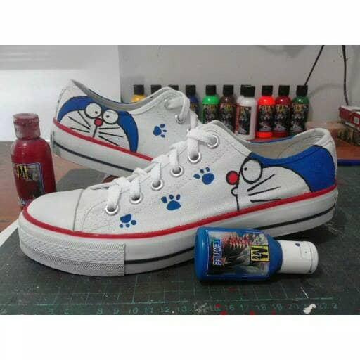 Jual Sepatu Lukis Doraemon Simple Kota Tangerang Sepatu Lukis