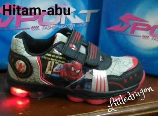 harga Sepatu spiderman lampu 25-29 #sepatu anak laki #sneakers anak Tokopedia.com