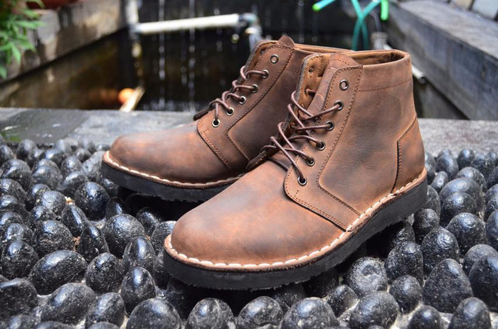 sepatu kulit boots manner combo piede handmade bandung berkualitas ca93590558