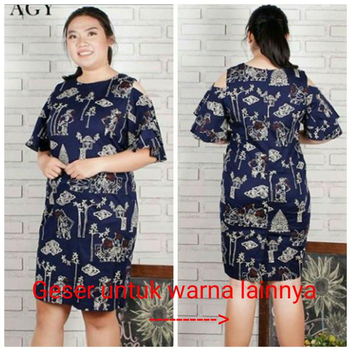 harga Dress Batik Dania 64/dress Batik Katun Stretch Bigsize Tokopedia.com