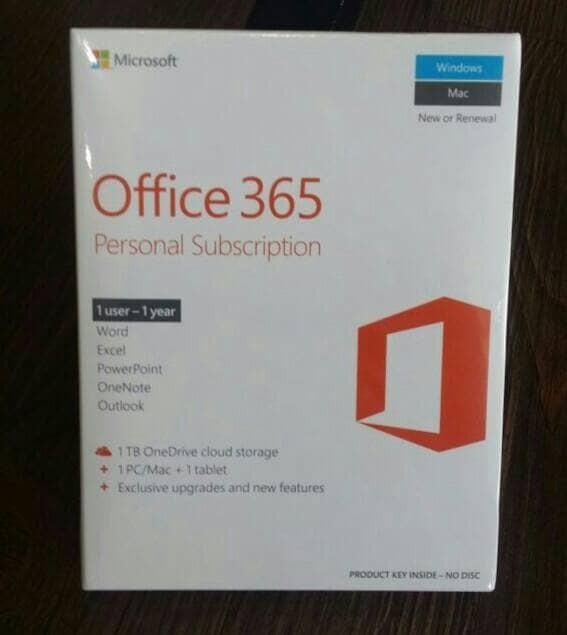 harga Microsoft office 365 personal subscription 1tahun Tokopedia.com
