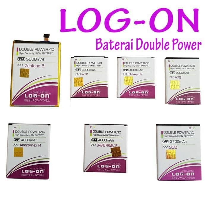 Log On Battery For Lenovo A708a859 4000mah Double Power & Ic Source Baterai .