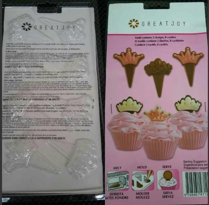 Jual Cetakan Coklat Cokelat Puding Fondant Hiasan Kue Cupcake Mahkota Crown Kota Bandung Nikida Kitchen Tokopedia